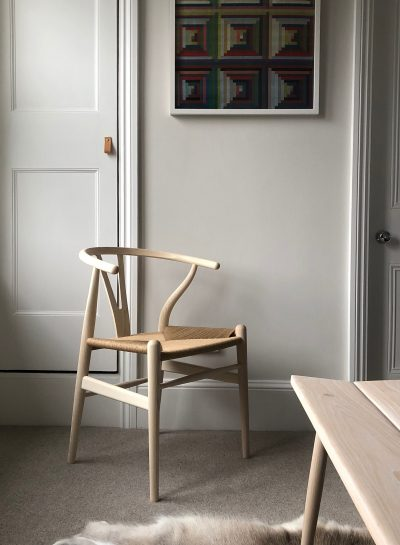 CH24 chair in neutral room